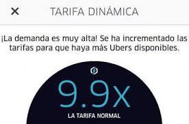 tarifas dinámicas de uber