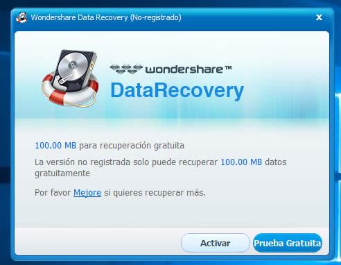 activar data recovery