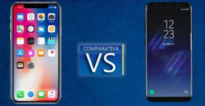 iphone X vs galaxy s8, características y diferencias