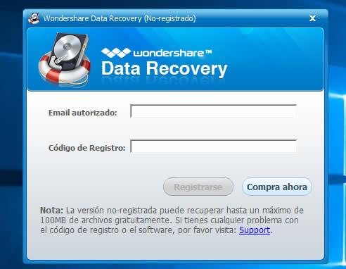 como activar data recovery