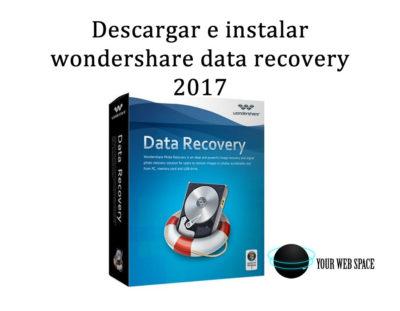 wondershare data recovery descargar e instalar 2017